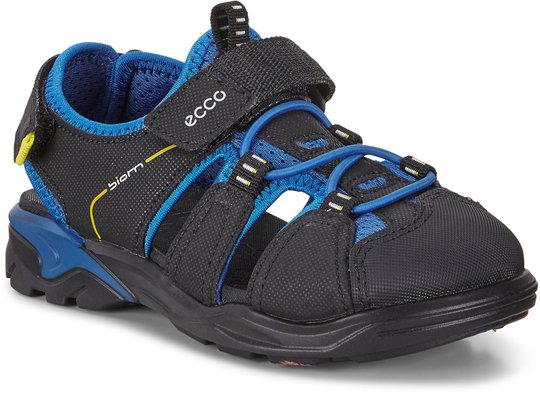 Ecco Raft Sandal, Black/Bermuda Blue 32