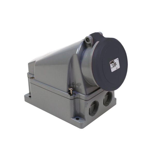 Garo UI 363-7 S + RU Vekkuttak IP44, 4-polet, 63 A Svart, 7 h
