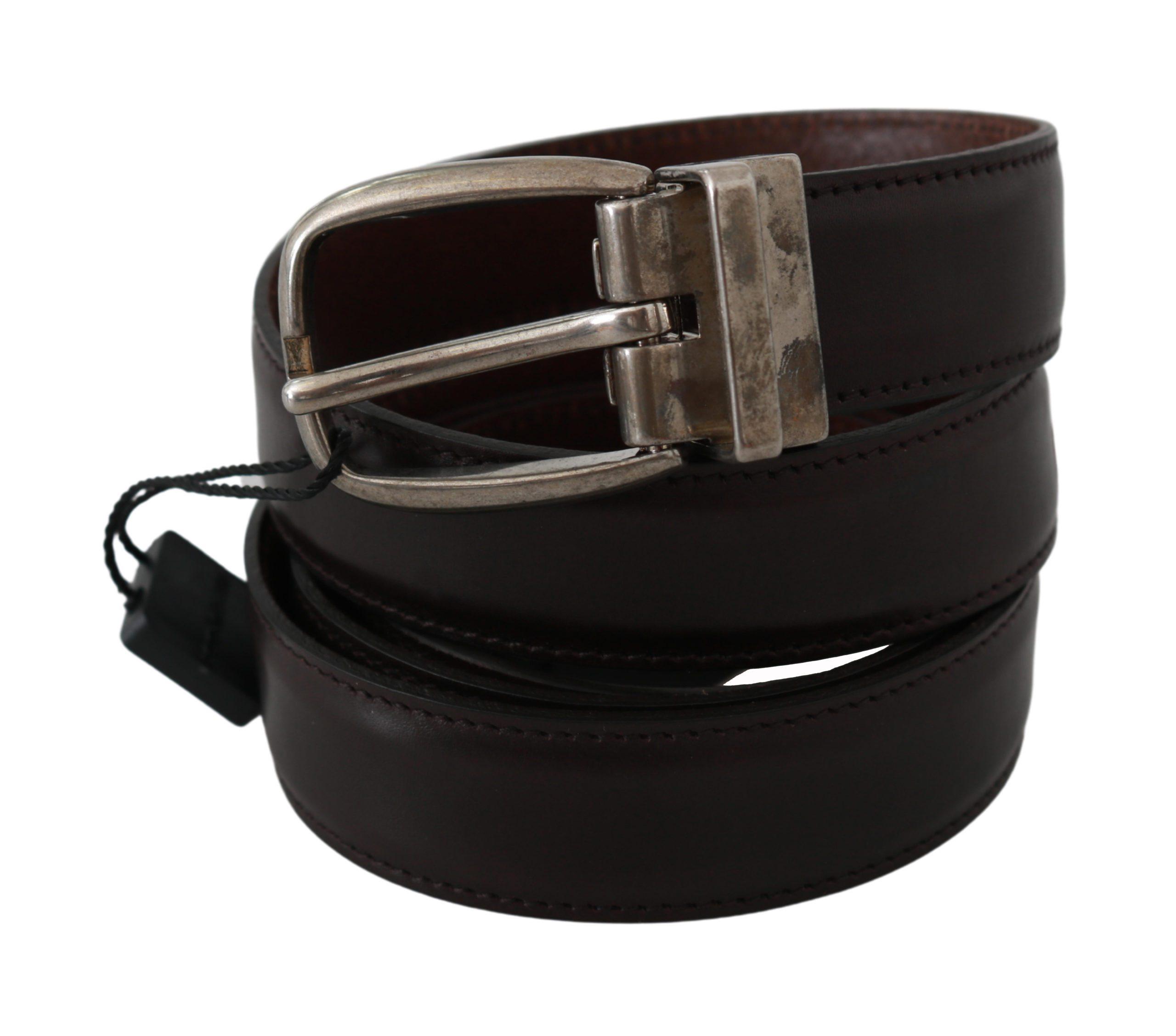 Dolce & Gabbana Men's Buckle Waist Leather Belt Brown BEL60552 - 110 cm / 44 Inches