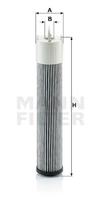 Suodatin, työhydrauliikka MANN-FILTER H 7010