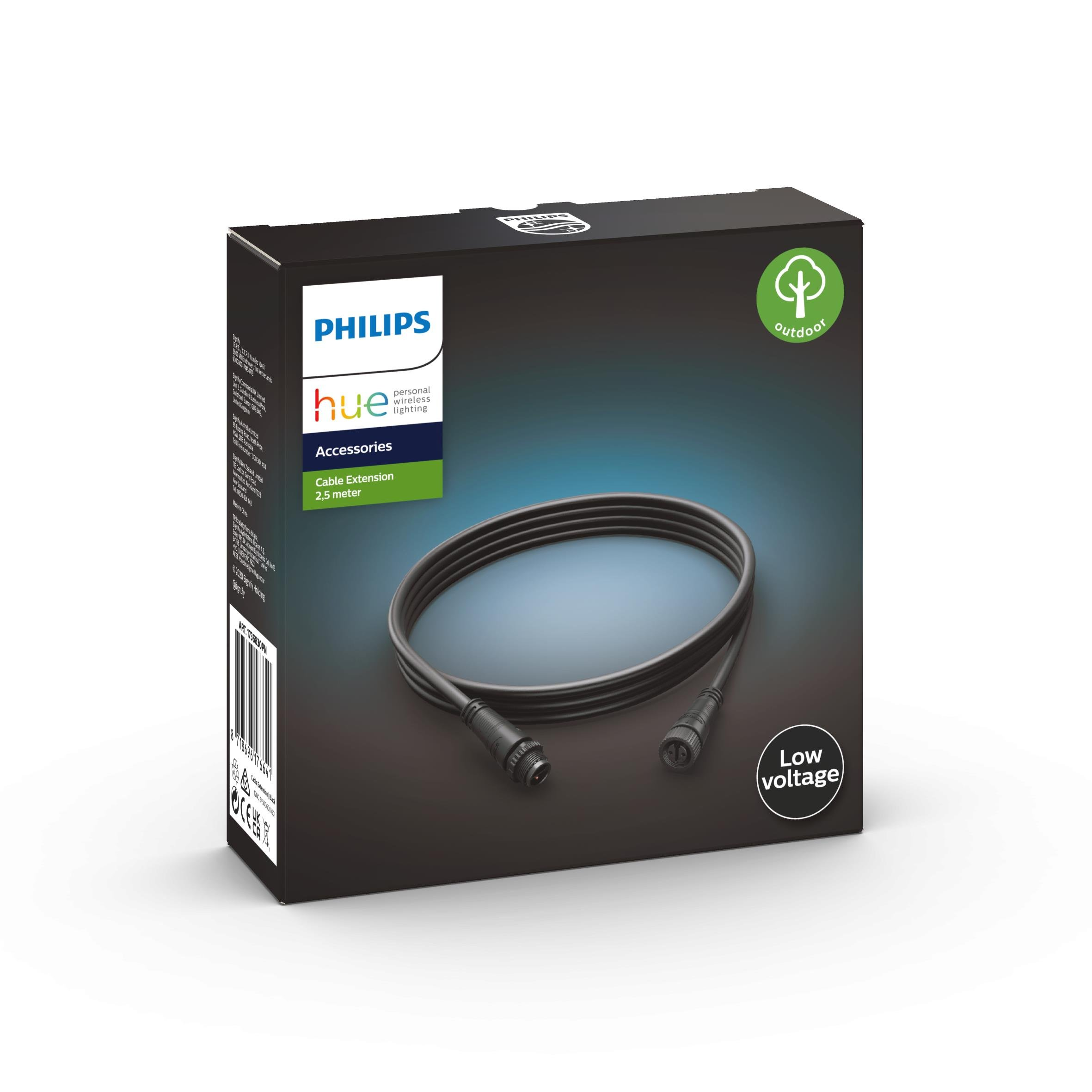 Philips Hue - Outdoor extension Cable 2.5m 24V