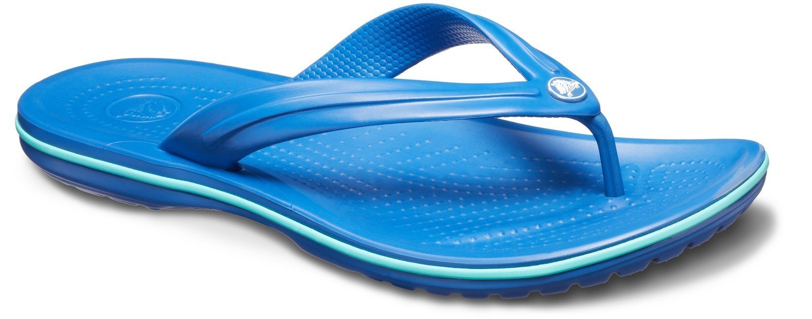 Crocs Unisex Crocband Flip Flops Various Colours 21067 - Blue/Pl 3