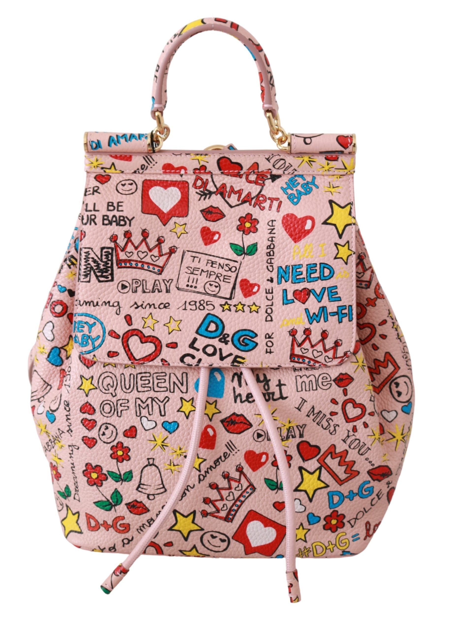 Dolce & Gabbana Women's Leather Backpack Pink VAS9228