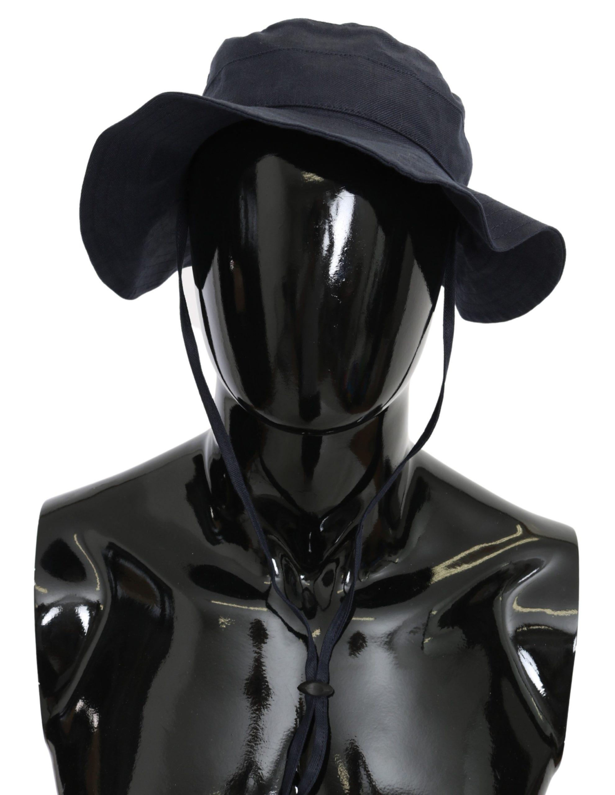 Dolce & Gabbana Men's Denim Cotton Solid Hat Blue HAT9093 - 58 cm|M