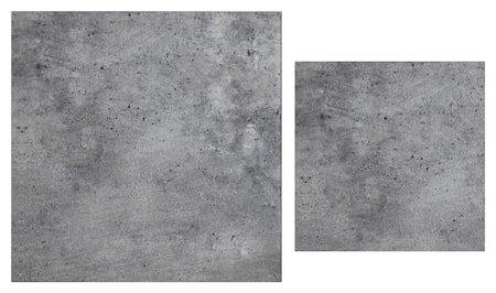 Stella Toppskive, satsbord, grått betongglass (sett med 2)