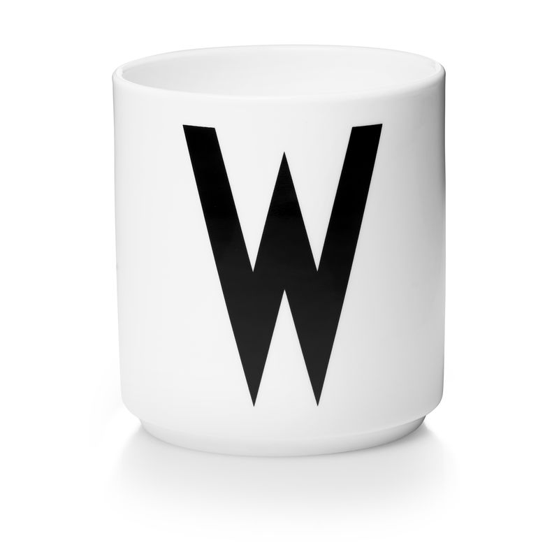 Design Letters - Personal Porcelain Cup W - White