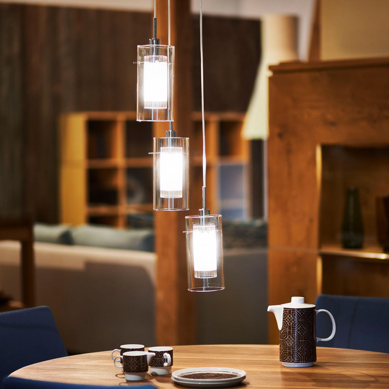 3-lamp. koristeellinen pyöreä DUO 1-riippuvalaisin