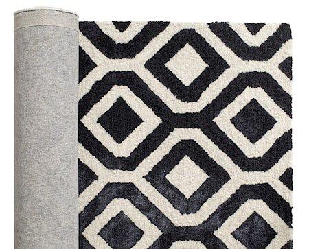 Geometric teppe - Dark blue/off white