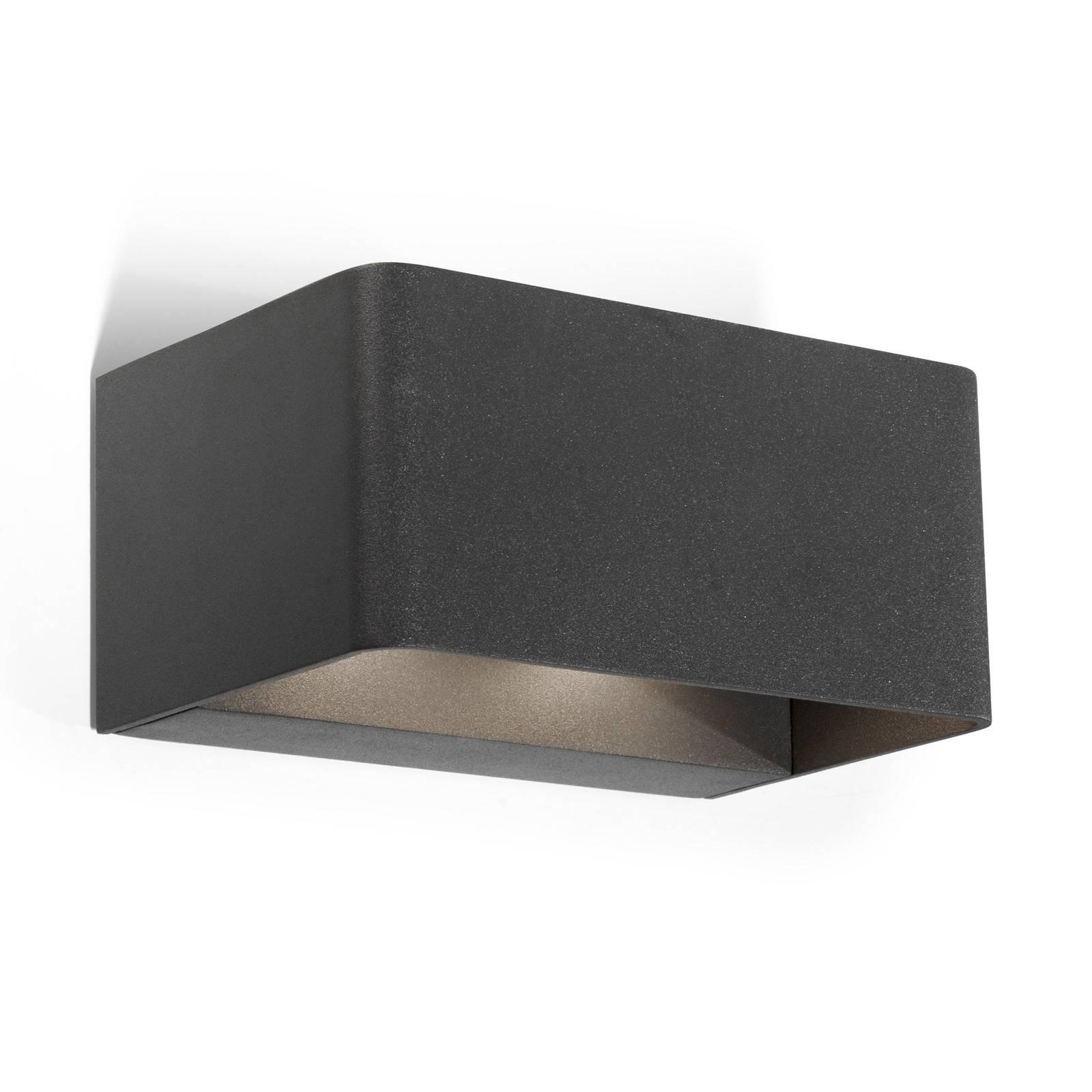 LEDS-C4 Wilson -LED-seinälamppu 19 cm antrasiitti