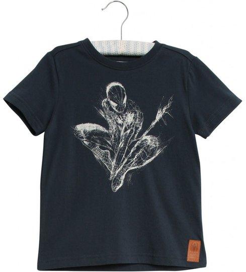 Wheat Marvel Spider-Man T-Skjorte, Midnight Navy, 92