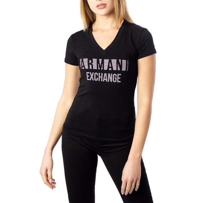 Armani Exchange Women's T-Shirt Black 190394 - black XS