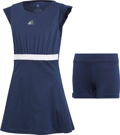 Adidas Girls Ribbon Kjole, Navy 116