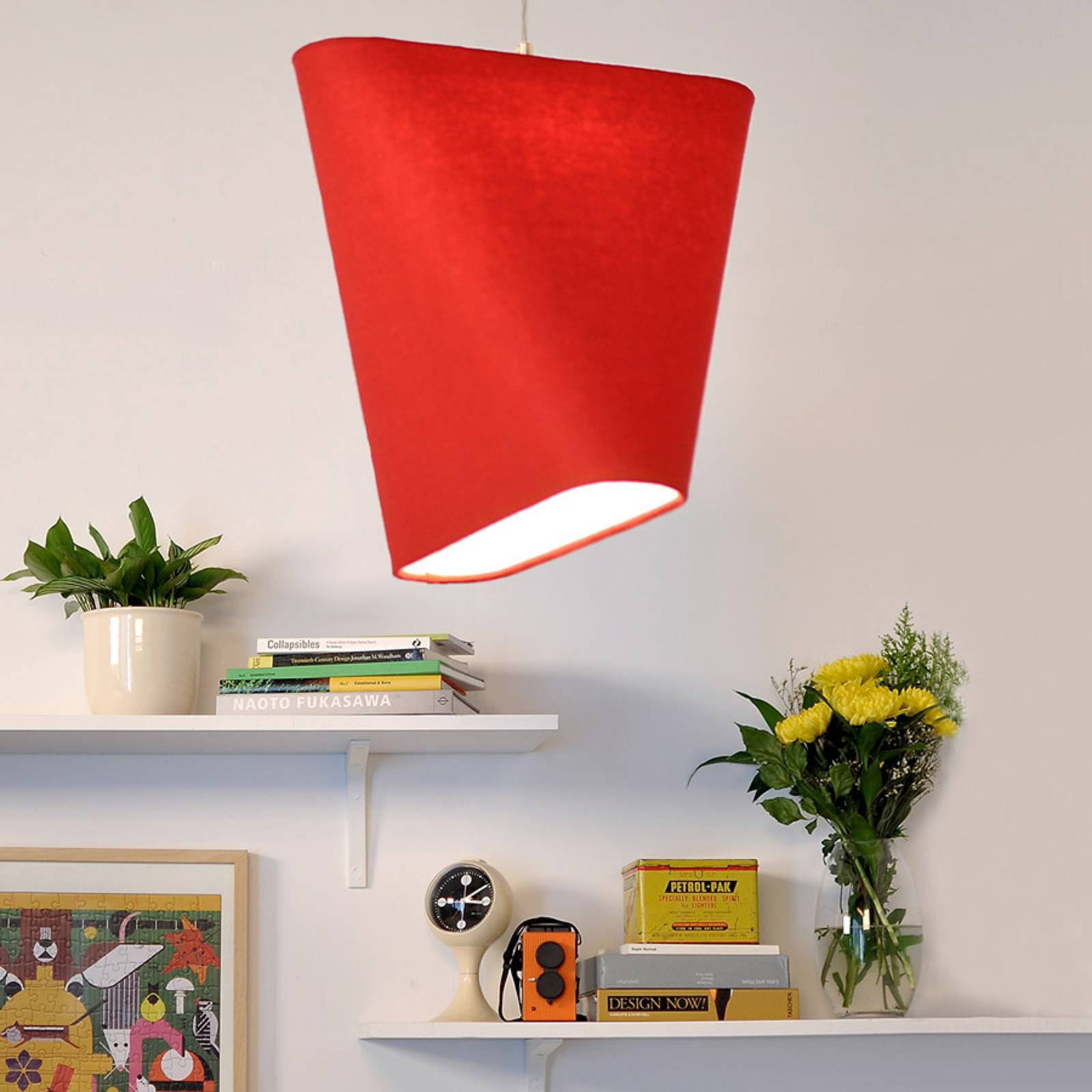 Innermost MnM 60 -tekstiili-riippuvalo, punainen