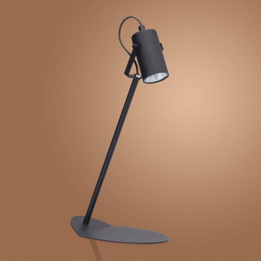 Redo bordlampe av metall, svart