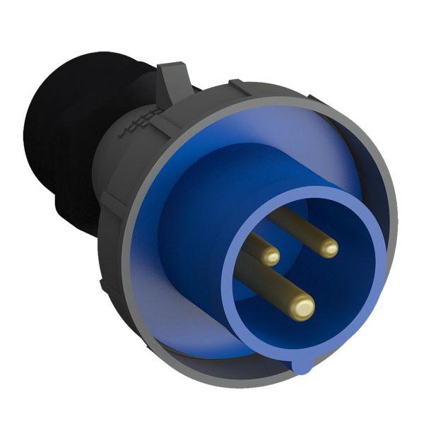 ABB 2CMA102355R1000 Pistotulppa pikaliitettävä, tärinänkestävä Sininen, 32 A, 3-napainen, 93 mm