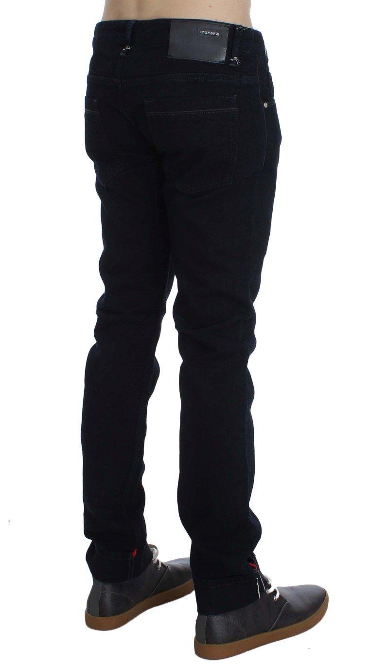 ACHT Men's Corduroy Slim Skinny Fit Jeans Blue SIG30479 - W34