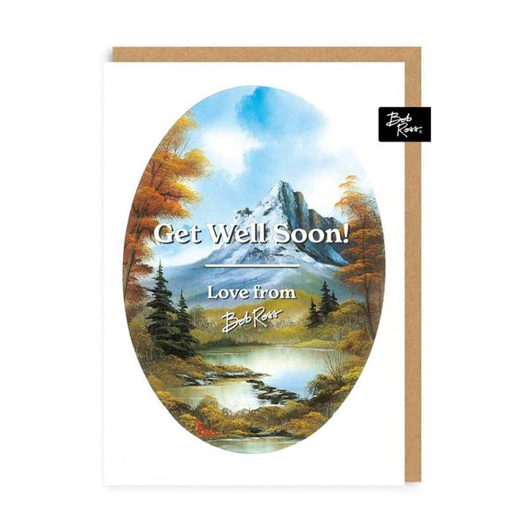 River Mountain Get Well Soon Greeting Card