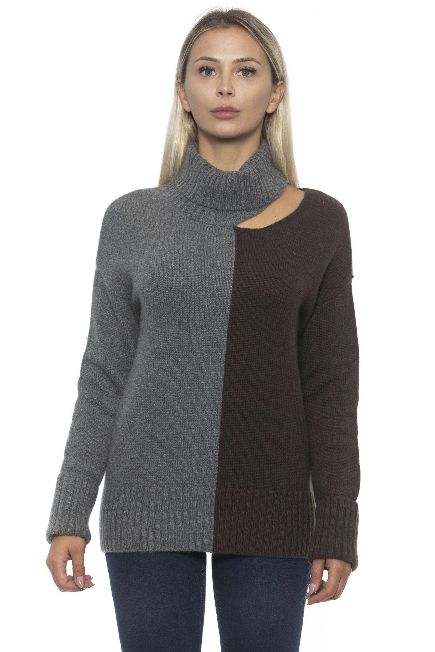 Alpha Studio Women's V A R. U N I C A Sweater Gray AL1192426 - IT42 | S