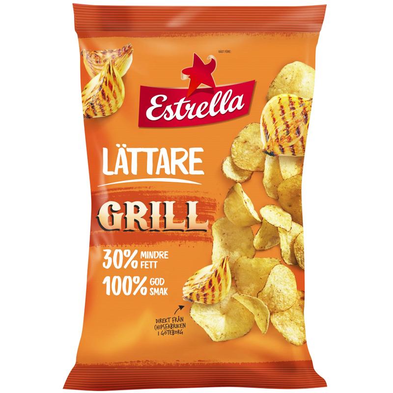 """Chips """"Lättare Grill"""" 175g - 75% rabatt"""