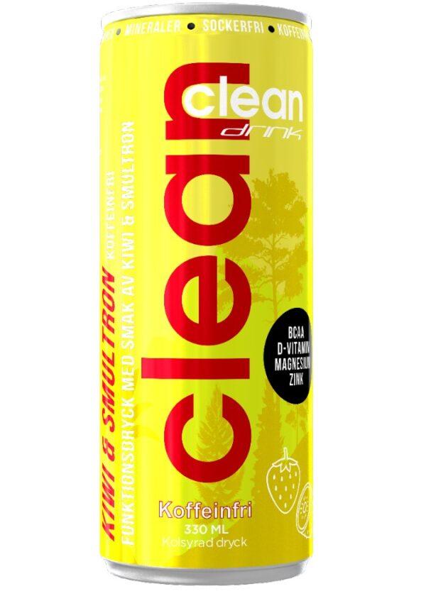 Clean Drink Kiwi/Smulton Koffeinfri 33cl