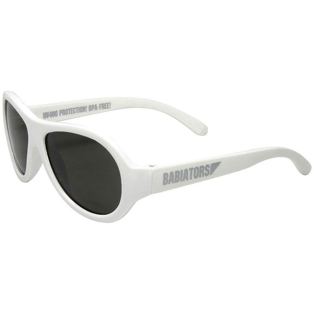 Babiators - Original Aviator - Solglasögon för barn - Vit (3-7 år)