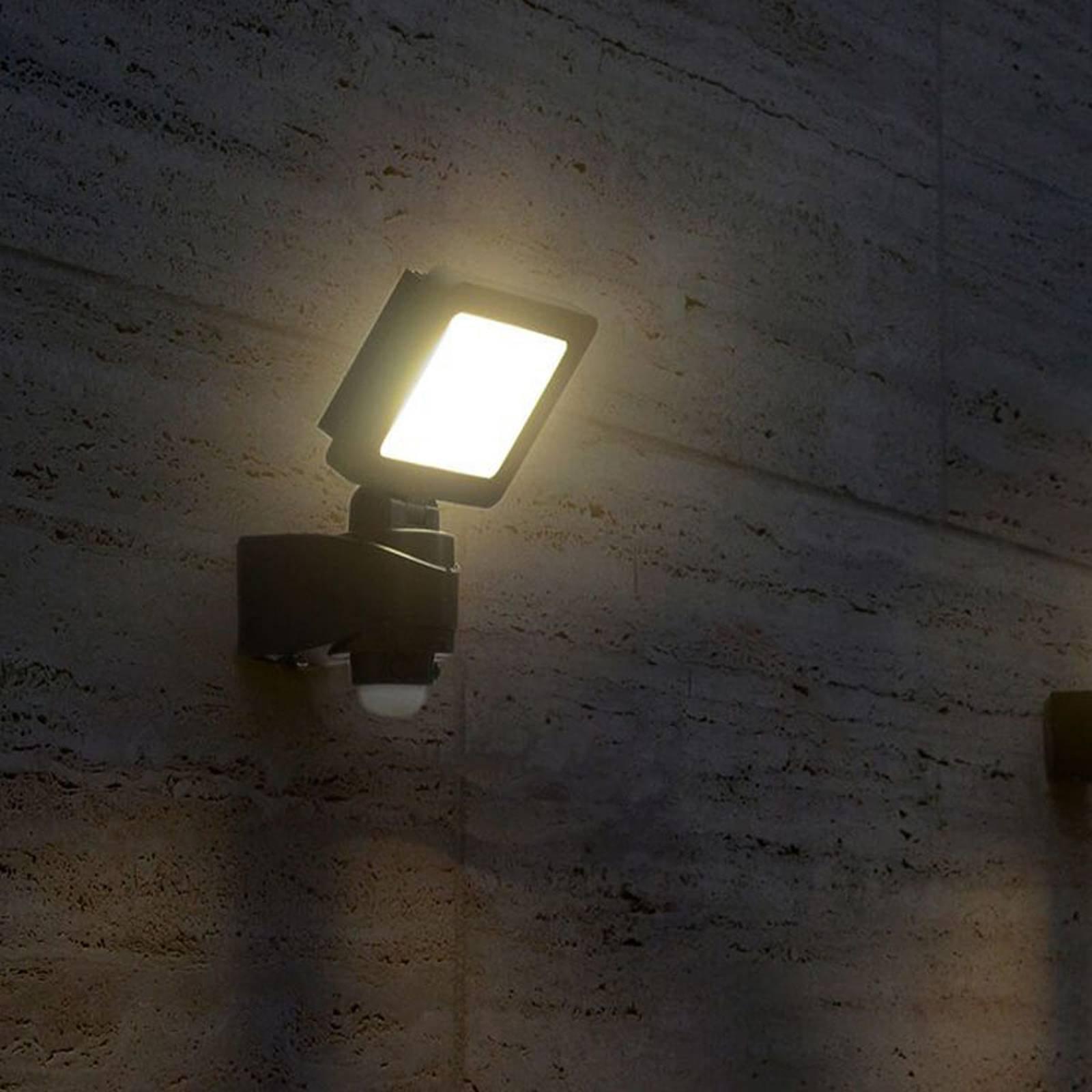 Lys utendørs LED-spot Nebraska med sensor