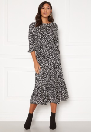 Happy Holly Annie dress Black / Patterned 52/54