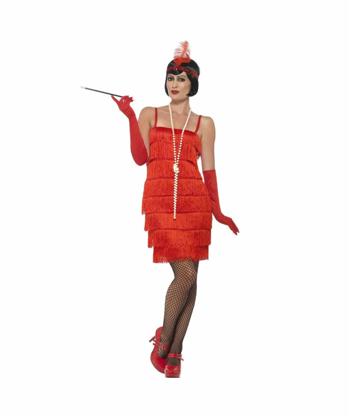 Charlestonklänning röd S