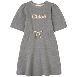 Chloé Logo Mjukis-klänning Grå 4 år
