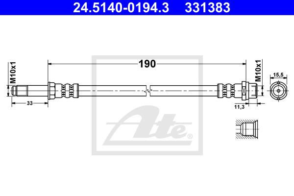 Jarruletku ATE 24.5140-0194.3
