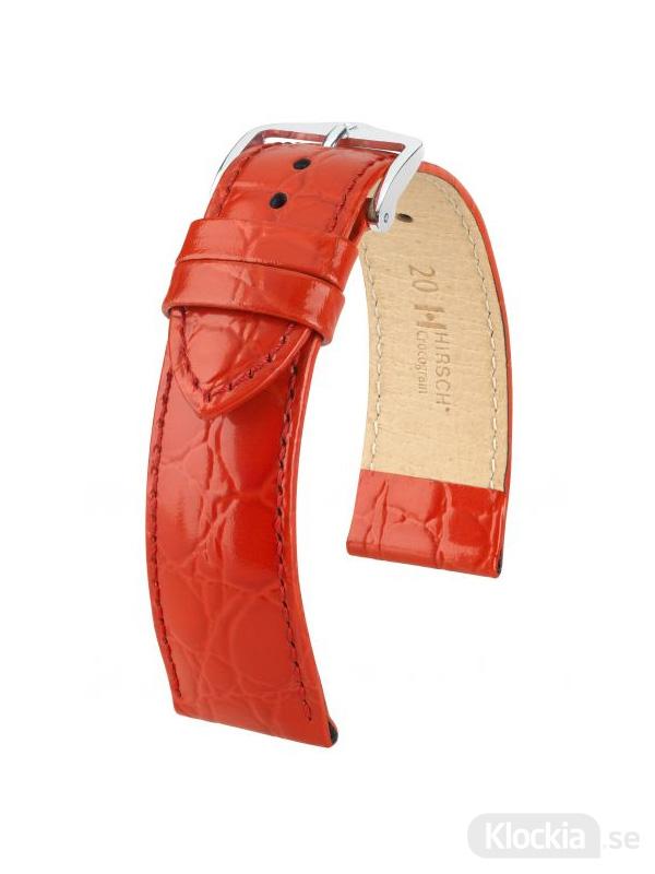 Hirsch Crocograin 20mm Medium Röd/Silver 12302820-2-20