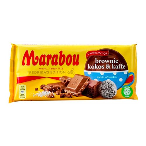Marabou Brownie Kokos & Kaffe - 185 gram