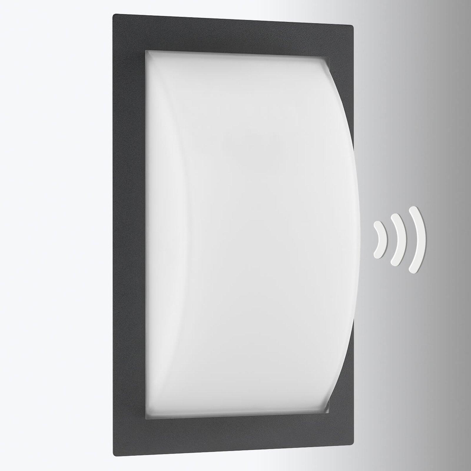 Ivett utend. LED-vegglampe grafitt m. bevegelses.