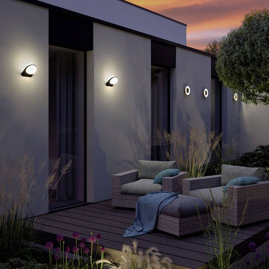 Paulmann Sphea utendørs LED-vegglampe med sensor