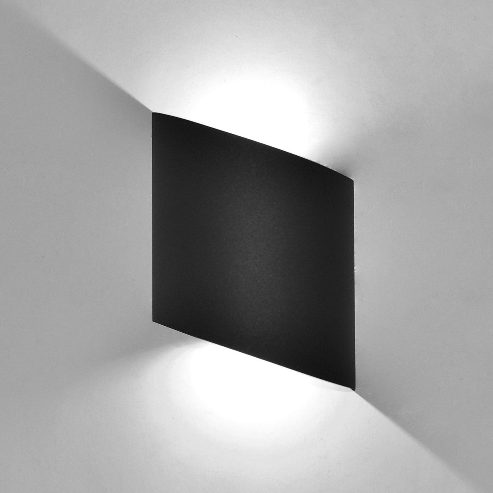 Utendørs LED-vegglampe Sochi i mørkegrått
