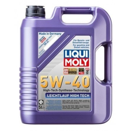 Moottoriöljy LIQUI MOLY LEICHTLAUF HIGH TECH 5W40 5L