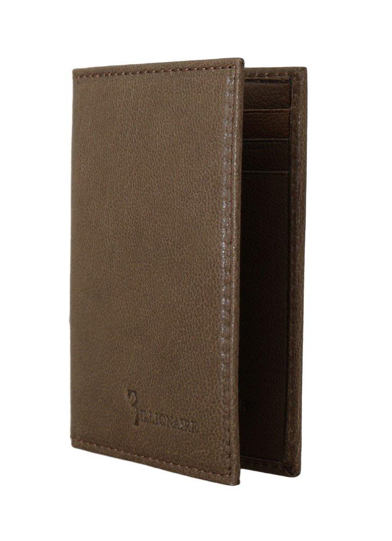 Billionaire Italian Couture Men's Leather Bifold Wallet Brown VAS1442