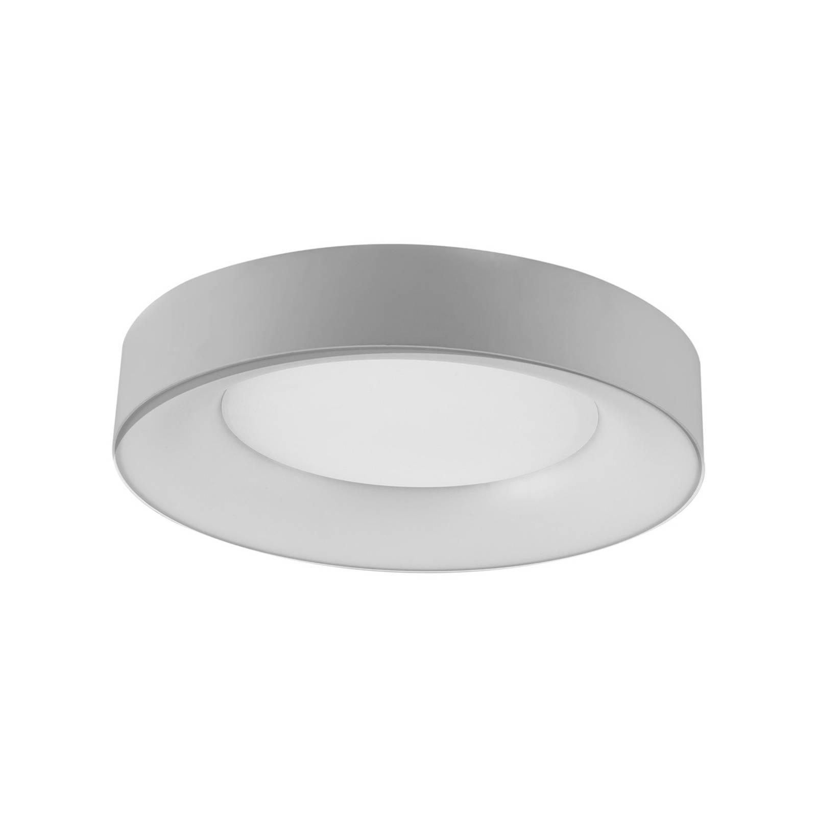 LED-kattovalaisin R40, Ø 40 cm, hopea