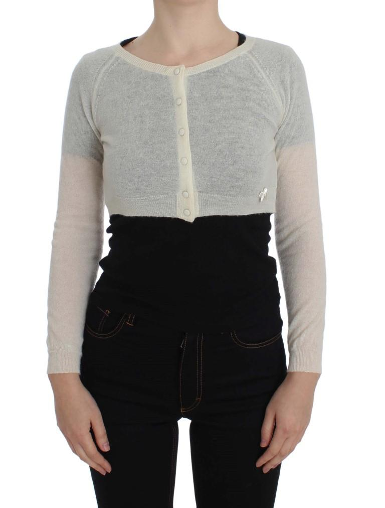 Ermanno Scervino Women's Wool Blend Sweater White SIG32566 - IT46 | L