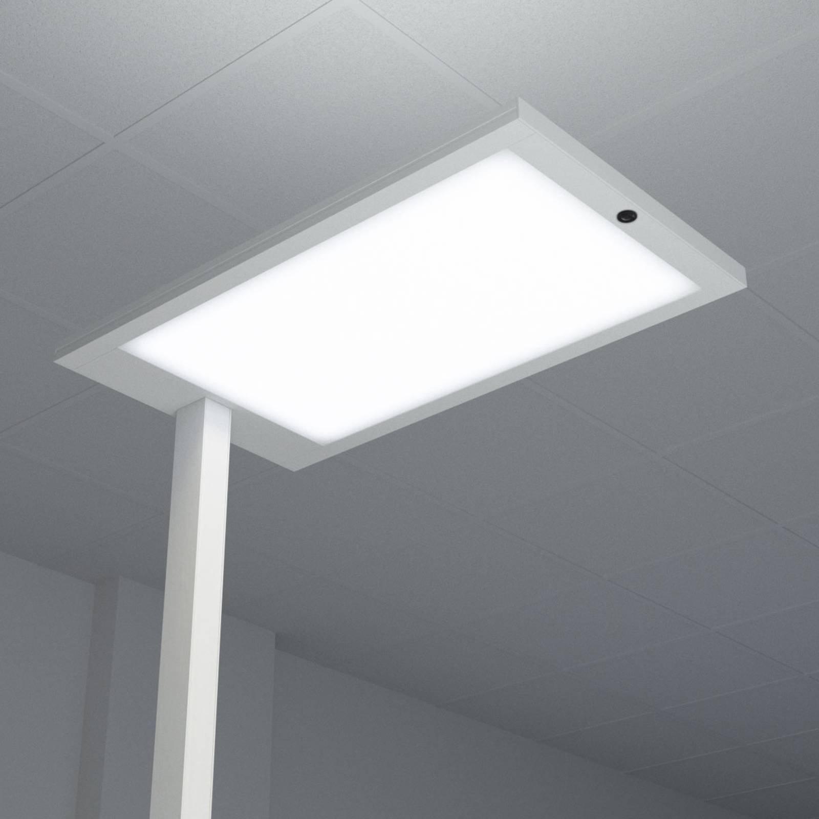 Almira LED-kontor-gulvlampe med dimmer, sølv