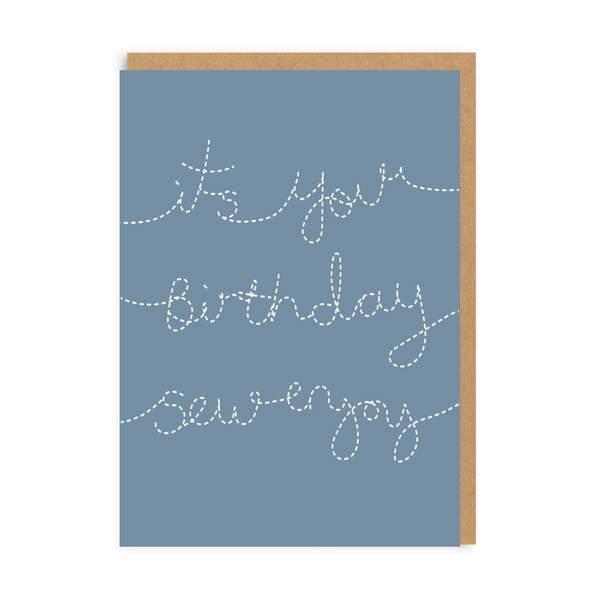 Birthday Sew Enjoy Greeting Card