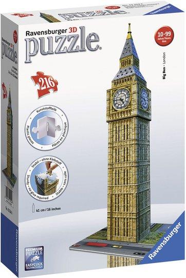 Ravensburger 3D-Puslespill Big Ben 216 Biter