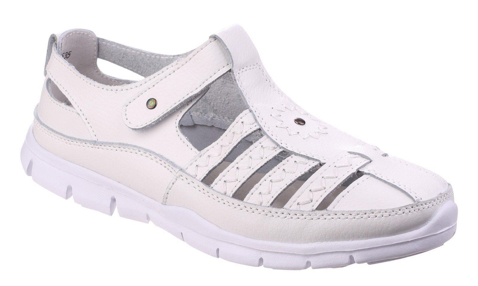 Fleet & Foster Women's Cabernet Memory Sandal Various Colours 24946-41278 - White 3