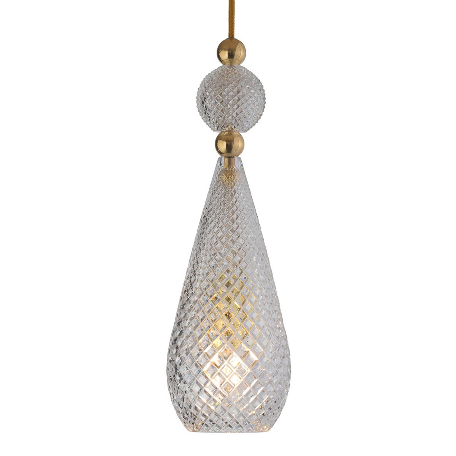 EBB & FLOW Smykke hengelampe gull, krystall