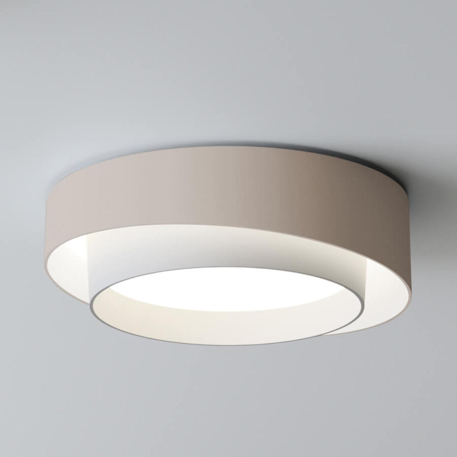 Valovoimainen LED-kattovalaisin Centric, kerma