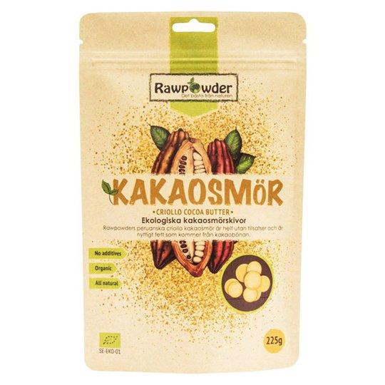 Rawpowder Ekologiska Kakaosmörskivor Criollo, 225 g