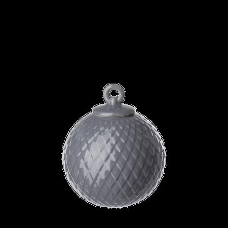 Rhombe Dekorasjonskule Ø7 cm Mørkegrå Porselen