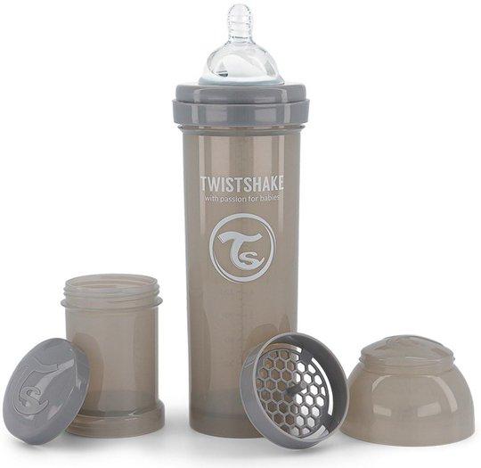 Twistshake Anti-Kolikk 330 ml, Pastel Grey