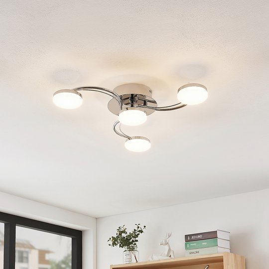 Lindby Dyln -LED-kattovalaisin, kaareva, 4-lamp.