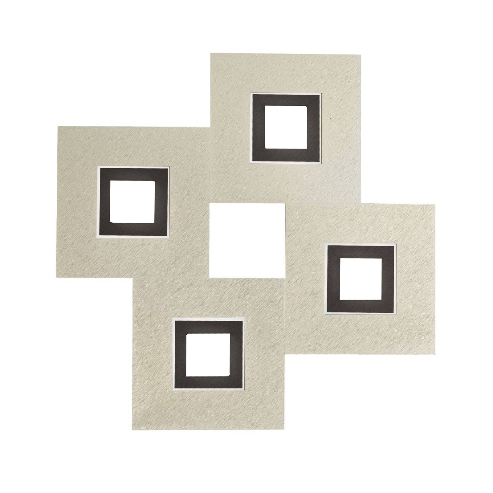 GROSSMANN Karree. 4 lysk., 50x50 perlemor, svart